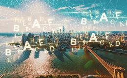 Alphabets with New York City Stock Image