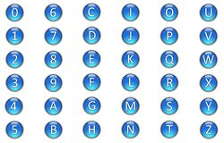 Alphabets and Numbers Royalty Free Stock Photo