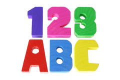 Alphabets and Numbers Stock Photography