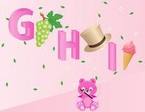 Alphabets pour des gosses GHI Photographie stock libre de droits
