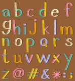 Alphabets Stock Image