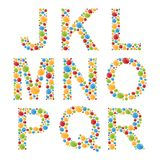 Alphabets. Set letters of stylized colorful bubbles or candy. Stock Photography