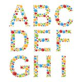 Alphabets. Set letters of stylized colorful bubbles or candy. Royalty Free Stock Photos