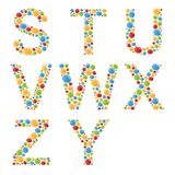 Alphabets. Set letters of stylized colorful bubbles or candy. Royalty Free Stock Image