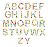 Alphabets. Set letters of stylized colorful bubbles or candy. Stock Photo