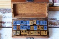 Alphabets stamp Royalty Free Stock Photos