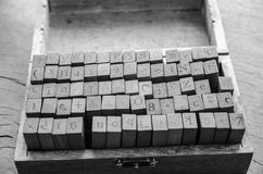 alphabets stamp in the box. Royalty Free Stock Images