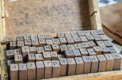 alphabets stamp in the box. Stock Photo