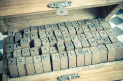 alphabets stamp in the box. Stock Photography