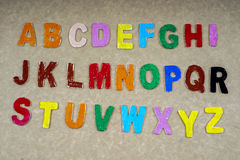 Alphabets. Various alphabet for education and fun Royalty Free Stock Photos