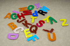 Alphabets. Various alphabet for education and fun Royalty Free Stock Image