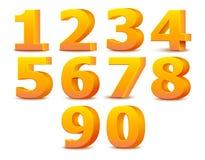 Alphabetzahlen. Vektorillustration. Stockbild