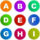 Alphabetzeichenikonen Lizenzfreie Stockbilder