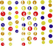 Alphanumero dots Stock Image