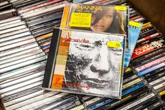 Alphaville cd zawsze albumowi potomstwa 1984 na pokazie dla sprzeda?y, s?awny Niemiecki wystrza?u zesp?? obrazy stock