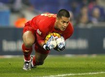 Alphonse Areola von Villareal-CF Lizenzfreies Stockfoto