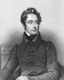 Alphonse de Lamartine Stock Photo