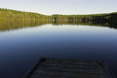 Alphonse Lake in La Mauricie National Park in Quebec Stock Photo