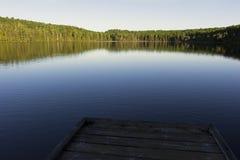 Alphonse Lake nel parco nazionale di Mauricie della La in Quebec Fotografia Stock