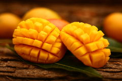 Alphonso Mango Slices Stock Photo