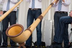 Alphorn music instrument Stock Photo