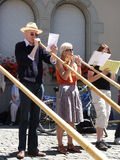 Alphorn Players Stock Images