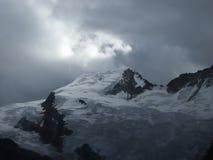 The Alphubel summit. Stock Photo
