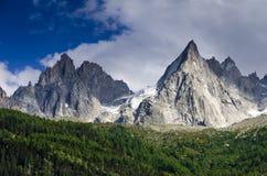 Alpi, Aiguille de Midi, Chamonix-Mont-Blanc in Francia Fotografia Stock