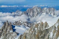 Alpi Aiguille du Midi Fotografia Stock