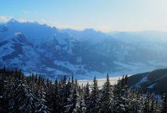 Alpi al tramonto Immagini Stock