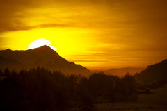 Alpi al tramonto Fotografia Stock