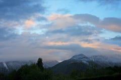 Alpi al tramonto Fotografie Stock Libere da Diritti