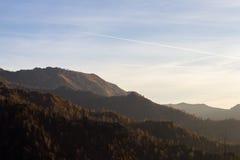 Alpi al tramonto Immagine Stock Libera da Diritti