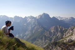 Alpi albanesi incredibili Fotografia Stock