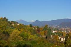 Alpi all'autunno, Italia Fotografia Stock Libera da Diritti
