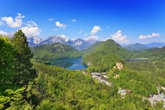 Alpi alpine Immagine Stock Libera da Diritti