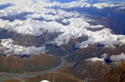 Alpi alpine della Nuova Zelanda Fotografie Stock Libere da Diritti