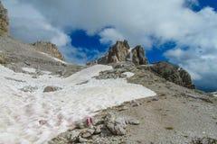 Alpi Alta Via 1 della dolomia Fotografia Stock Libera da Diritti
