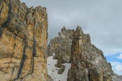 Alpi Alta Via 1 della dolomia Immagine Stock