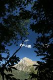 Alpi Apuane,福尔泰德伊马尔米,卢卡,托斯卡纳,意大利 Monte Pania 免版税库存图片
