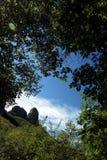 Alpi Apuane, Forte dei Marmi, Luca, Toscani?, Itali? Monte Proci royalty-vrije stock foto