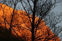 Alpi Apuane, Massa Καρράρα, Τοσκάνη, Ιταλία Βουνό που φωτίζεται στοκ φωτογραφία με δικαίωμα ελεύθερης χρήσης