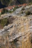 Alpi Apuane, Massa Carrara, Toscana, Italia Vista panoramica di Th fotografia stock
