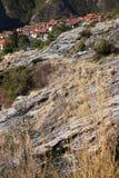 Alpi Apuane, Massa Carrara, Tuscany, Italien Panoramautsikt av th arkivfoto