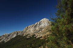 Alpi Apuane, Massa Carrare, Toscane, Italie Le dessus du Pizzo image libre de droits