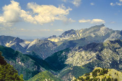 Alpi Apuane (Toscana) Fotografia Stock