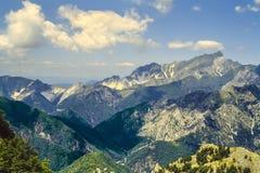 Alpi Apuane (Tuscany) Arkivfoto