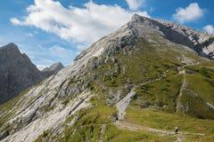 Alpi - ascesa al picco di Watzmann Immagini Stock