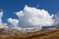 Alpi australiane coperte in neve il giorno soleggiato luminoso Nuovo W del sud Immagini Stock Libere da Diritti