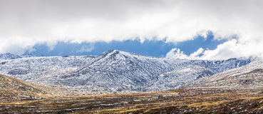 Alpi australiane coperte in neve - parco nazionale di Kosciuszko, Aust Fotografie Stock